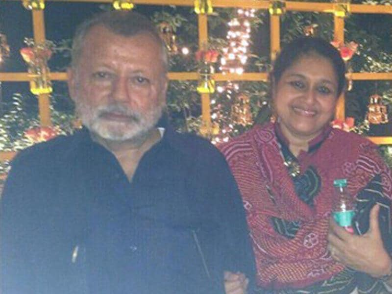 Pankaj Kapoor and Supriya Pathak at the wedding sangeet of Shahid. (Courtesy: Twitter)