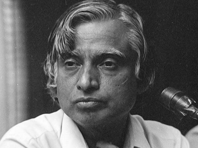 Former president and eminent scientist Dr. APJ Abdul Kalam at a press conference for the 'Agni' missile project in New Delhi, on May 26, 1989. Kalam passed away on July 27, 2015 at the age of 83 after collapsing during a lecture at IIM-Shillong. (Santosh Gupta/HT file photo)