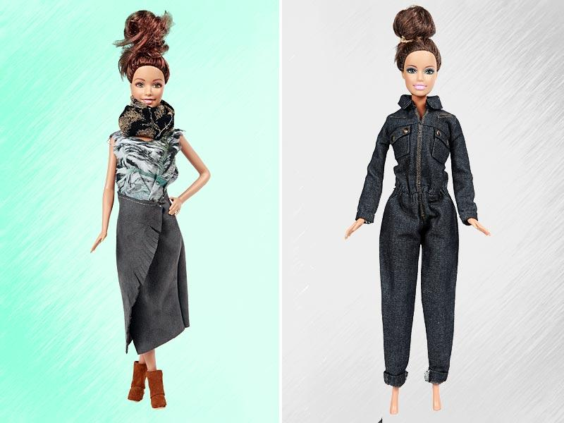 Today's Barbie represents more than 50 nationalities, and has successfully navigated from a career in architecture to veterinarian, journalist, astronaut and even fashion designer in just a few years. Makeover by Heimstone and Carolina Ritz.