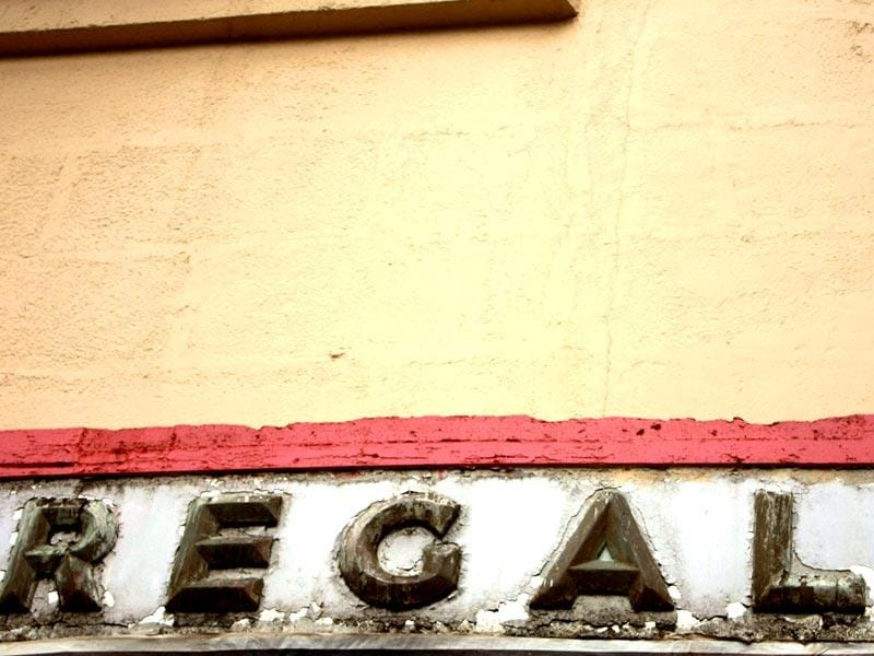 Art Deco lettering on Regal Cinema in Colaba. (HT photo/Sarit Ray)