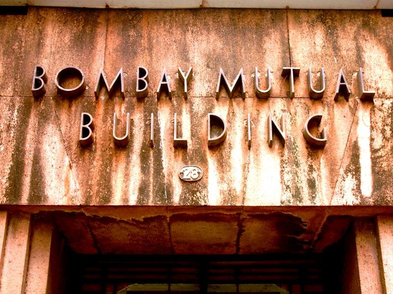 The Bombay Mutual Building has streamlined lettering - a typical of Art Deco. (HT photo/Sarit Ray)