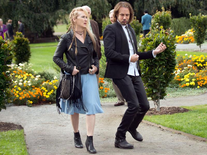 Meryl Streep and Rick Springfield rock the kasbah in Ricki and the Flash. (Sony Pictures/AP)