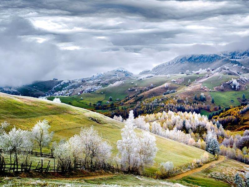 Romania, Land of Fairy Tales | White frost over Pestera village.  (Photo and caption by Eduard Gutescu /National Geographic Traveler Photo Contest. Here are the details about the contest http://travel.nationalgeographic.com/photo-contest-2015/)