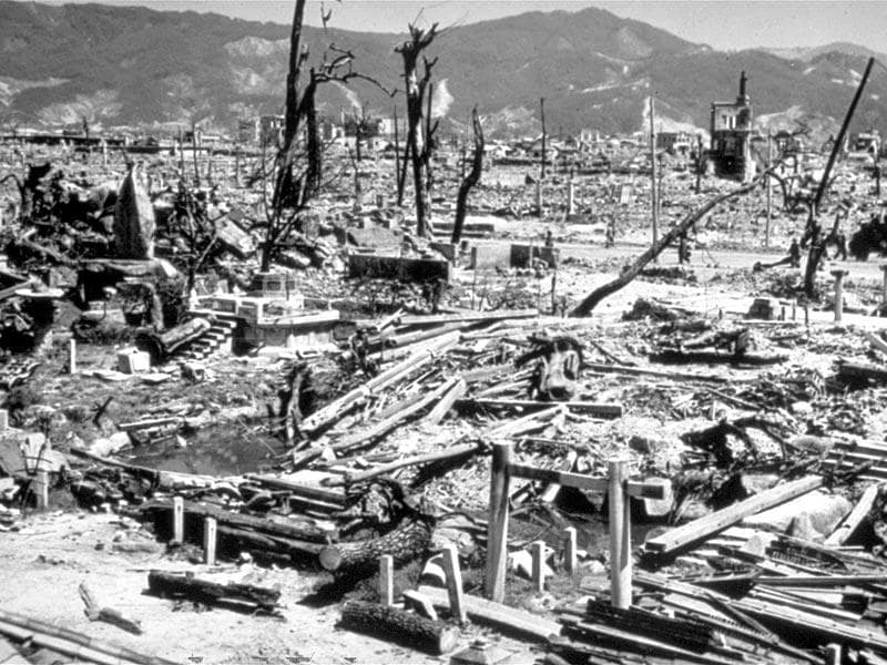 This Aug 6, 1945 file photo, shows the destruction from the explosion of an atomic bomb in Hiroshima, Japan. (AP Photo, File)