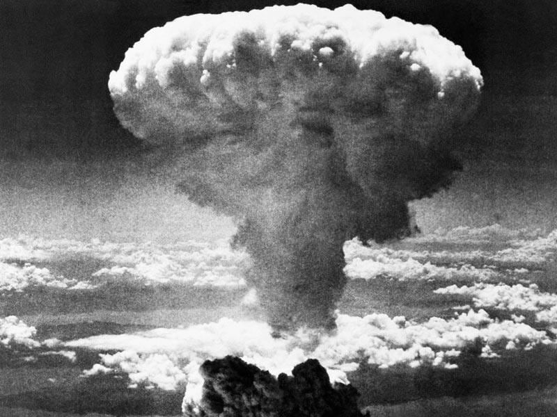 In this Aug 9, 1945 file photo, a mushroom cloud rises moments after the atomic bomb was dropped on Nagasaki, southern Japan.(AP Photo/File)