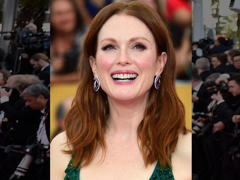 Redhead Julianne Moore proves that soft pinks can work brilliantly with pale skin tones. Seen here at the Screen Actors Guild Awards in January, the Still Alice actor's flushed cheeks and pastel lip left her looking like the perfect English rose.