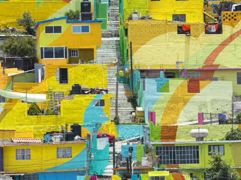 'Las Palmitas', the city sporting a giant mural, hides many mini-murals within in. Since its completion, the art has so far not been spoilt or vandalised. (AFP Photo)
