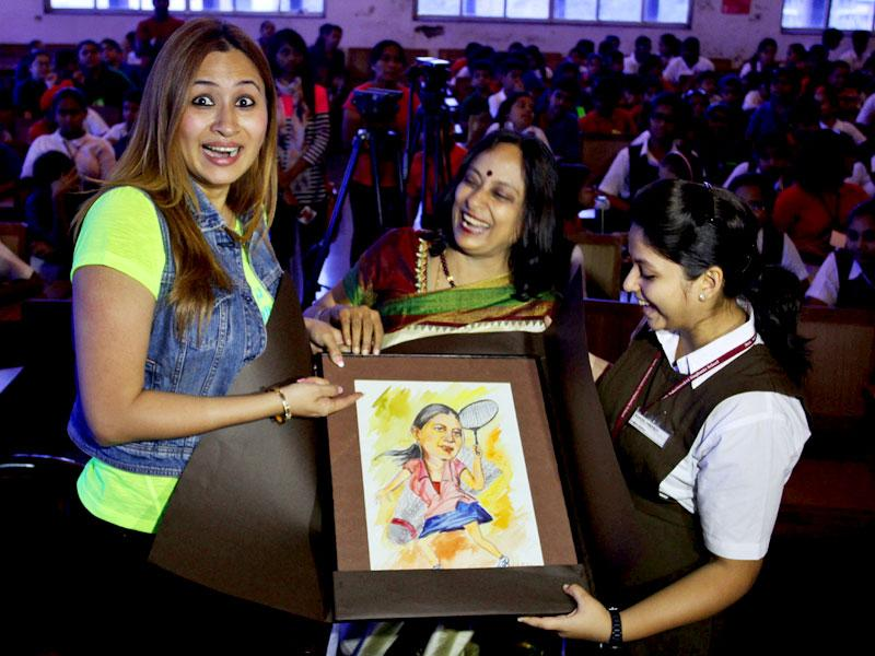 International badminton player Jwala Gutta inaugurated the largest indoor multi-sports facility at Sulochana Devi Singhania School, in Thane. (Photo credit: Praful Gangurde)