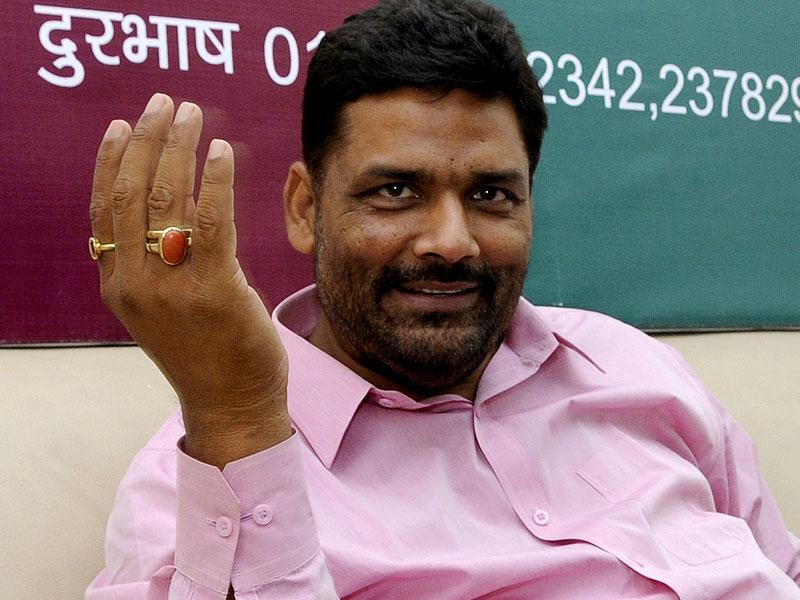 Rajesh Ranjan (Pappu Yadav) won from Madhepura Lok Sabha seat as RJD candidate in 2014 polls. He has now floated his own party named as Jan Adhikar Party. (HT Photo/Sushil Kumar)