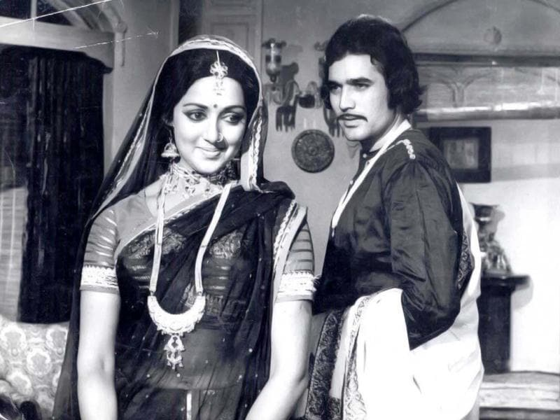 A still from Hema Malini and Rajesh Khanna's film.