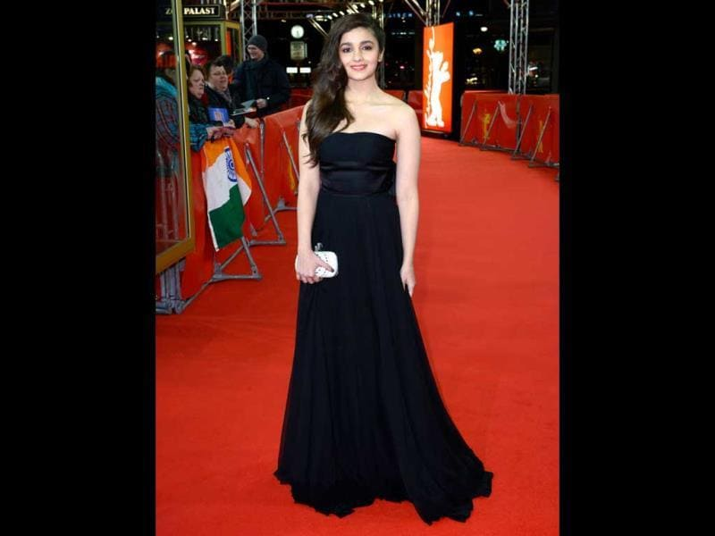 Alia Bhatt on the red carpet at the World Premiere of Highway at the 64th Berlin Film Festival.