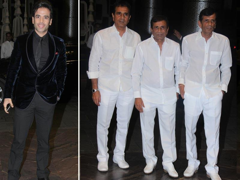 Actor Tushar Kapoor was also in attendance. Director-duo Abbas-Mustan were seen at the reception with their editor brother Hussain Burmawala.