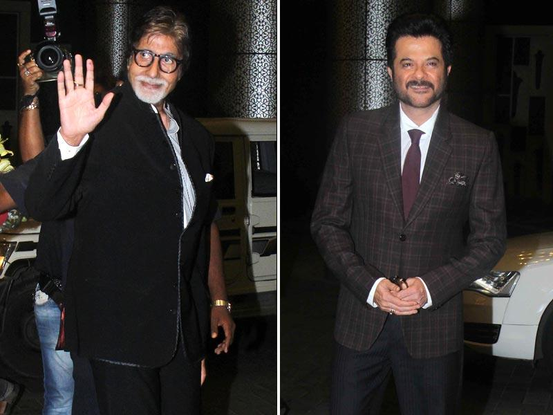 Amitabh Bachchan and Anil Kapoor were also in attendance at the grand reception to bless the newly weds.