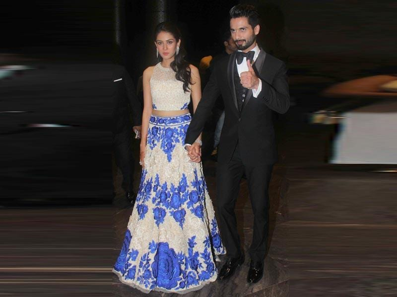 Shahid Kapoor and Mira Rajput's wedding was a quiet affair but their wedding reception at the Palladium Hotel in Lower Parel on Sunday July 12 saw the who's who of Bollywood in attendance. (All photos/Pramod Thakur)