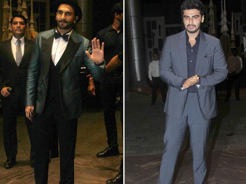 Actors Arjun Kapoor and Ranvir Singh were also seen at the reception.