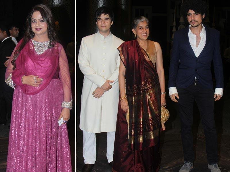 Shahid's mom Nilima Azim was one of the first to arrive at the venue. Ratna Pathak was also seen with her sons Vivaan Shah (left) and Imaad Shah.