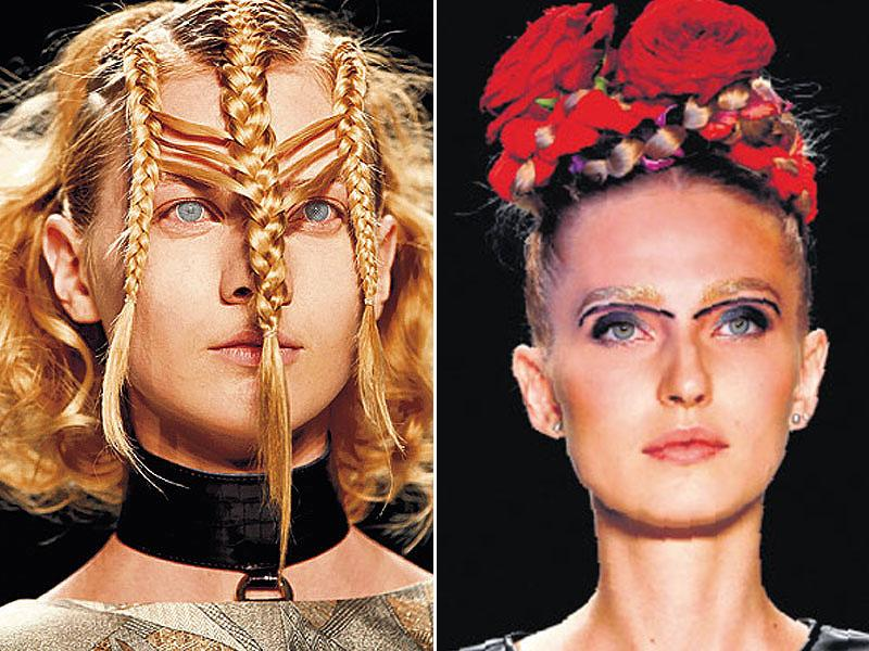 The recent fashion weeks were a visual treat with some funky hair-raising trends. Here's a dekko! (Photos: AP, AFP and Reuters)