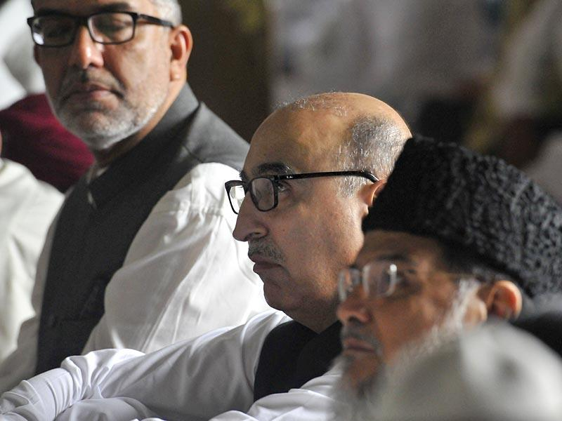 Pakistan High Commissioner to India, Abdul Basit attended the morning namaz at Fatehpuri Masjid on the occassion of Eid on Saturday. (Saumya Khandelwal/ HT Photo)