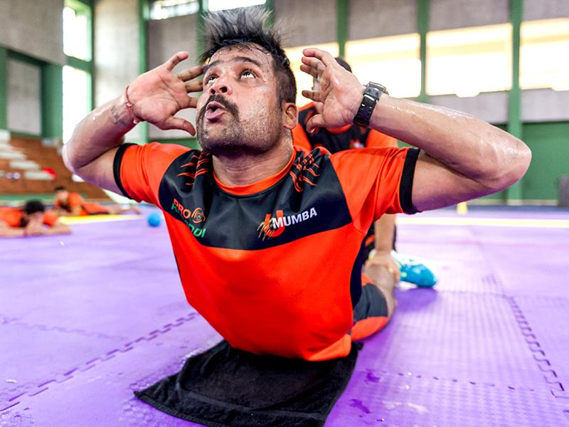 U Mumba player Rishank Devadiga during a training session. (Photo: Ali Bharmal)