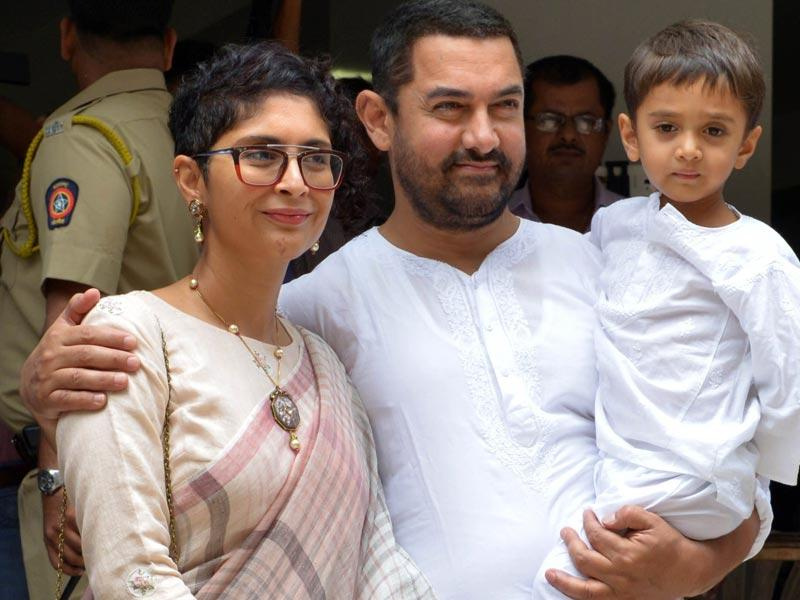 The three were spotted outside their residence on Eid. (AFP)