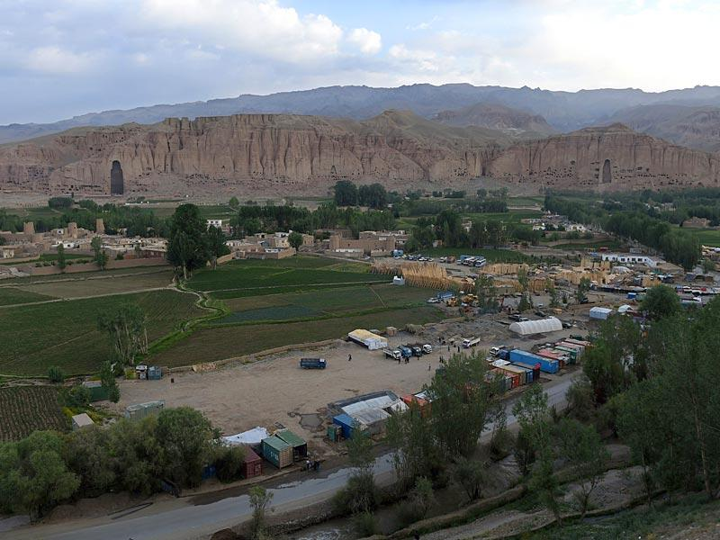 Site where two statues of Buddha stood in Bamiyan.(AFP Photo)