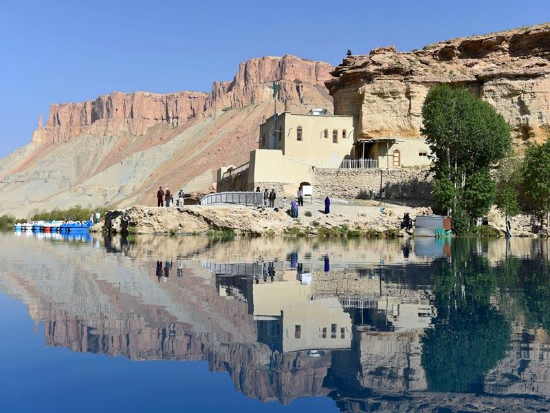 Band-i-Amir Lake in Bamiyan is a peaceful site. (AFP Photo)