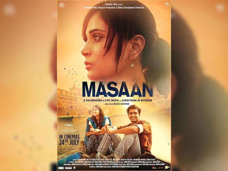 A poster of Masaan.