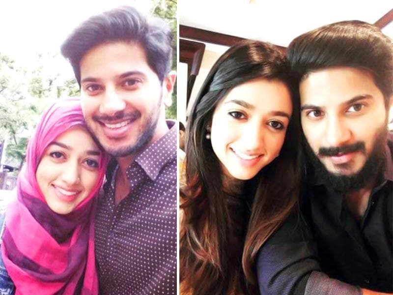 OK Kanmani star Salman Dulquer shared this Eid photograph with his wife Amal Sufiya. (dulQuer/Twitter)