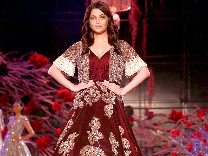Aishwarya Rai Bachchan creates magic as she walks the ramp after a long gap. (AP photo)