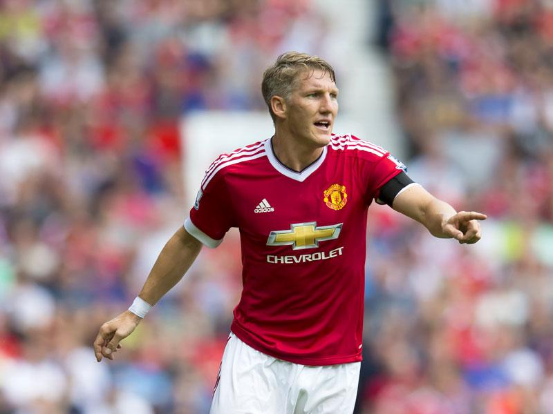 Manchester United's Bastian Schweinsteiger in action during the English Premier League (EPL) match between Manchester United and Tottenham at Old Trafford, Manchester on August 8, 2015. (AP Photo)