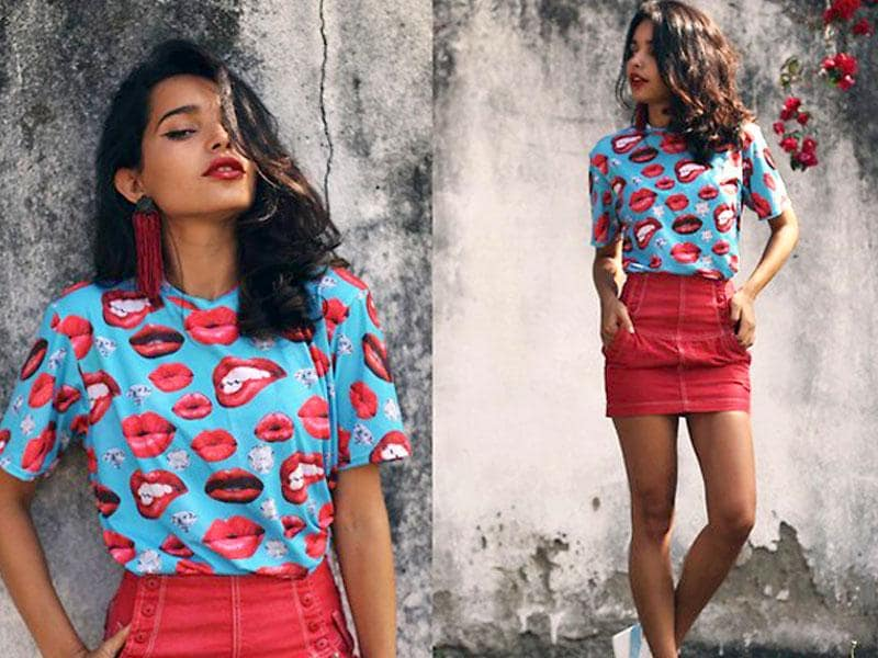 Fashion is having fun with lip prints, which have been spotted on everything from crop tops and sneakers to sunglasses and scarves.