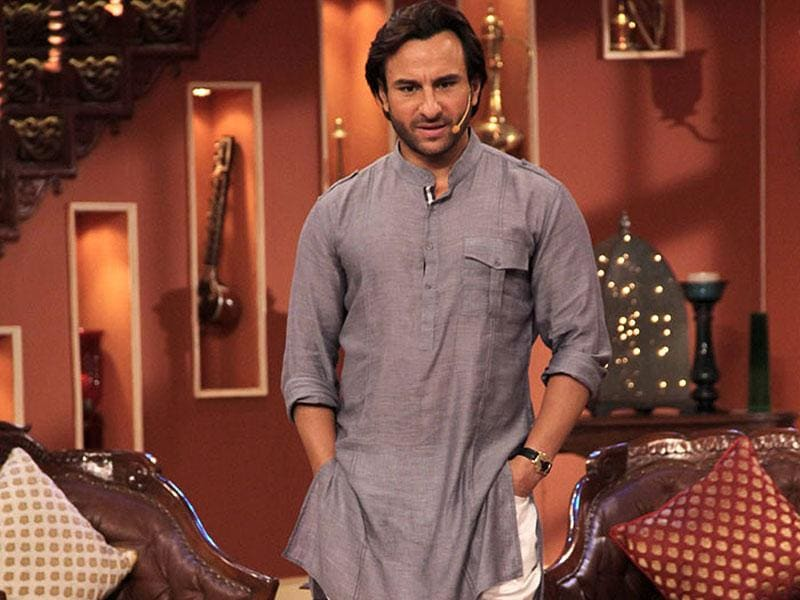 Saif's grey kurta that he wore during his wedding seems to be one of his favourites. The nawab wore it again on Kapil Sharma's comedy show.