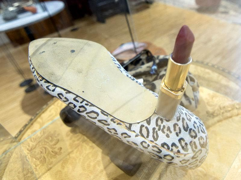 High heels with lipstick at the 'Nonseum' museum. The museum was founded by Fritz Gall, a sculptor, along with four other local artists in 1994. (AFP Photo/ Joe Klamar)