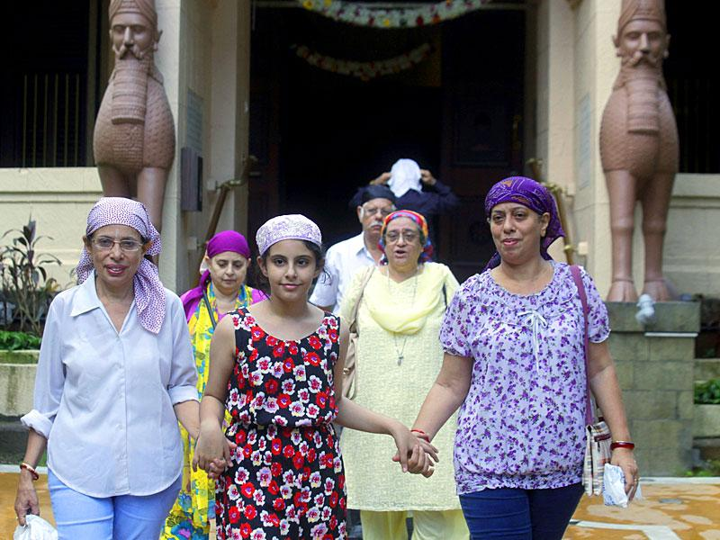 Parsi people greet each other on the occasion of 'Navroz'. The Indian followers of Zoroastrianism are called Parsis because the religion arrived in India from Persia. (Kunal Patil/HT Photo)