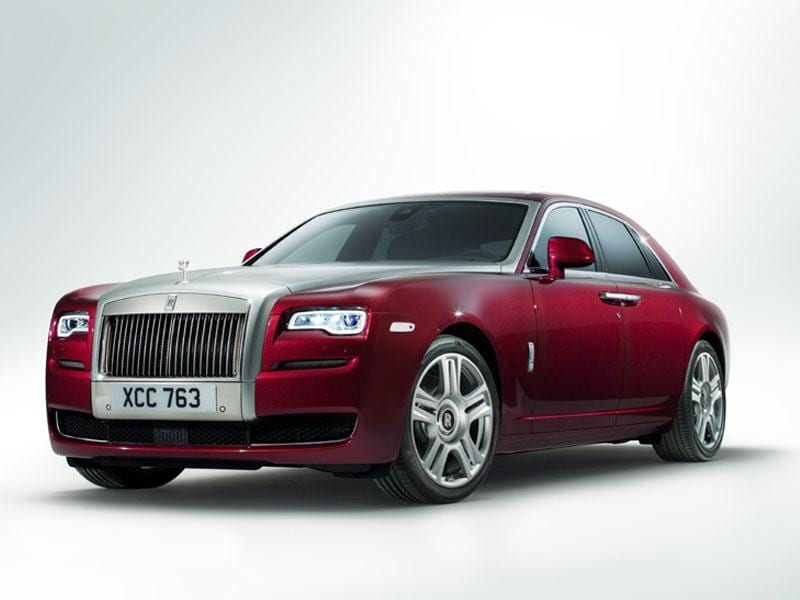 Rolls-Royce Ghost Series II - $286,750 : The Ghost is designed for gliding smoothly along the road while its rear-seat passengers soak up the luxury and maybe get some work done, rather than for racing. Rolls-Royce is renowned for its bespoke interior capabilities offering everything from marquetry to silk as options. But it usually leaves its V12 engines untouched.Photo:AFP