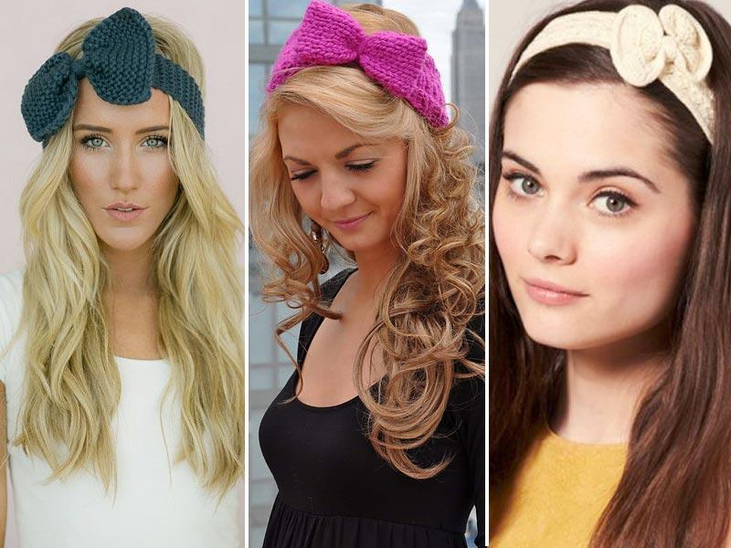 Knitted bow headband: We have a total girl crush on this trend. Swoon.