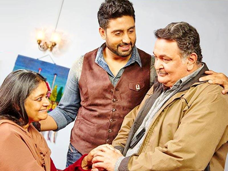 Supriya Pathak and Rishi Kapoor play parents to Abhishek Bachchan in All Is Well.