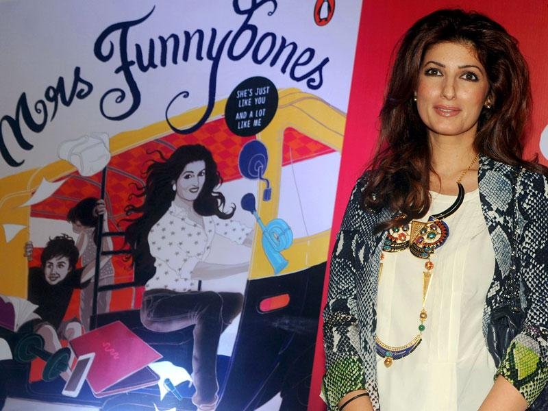 Twinkle Khanna poses for a photograph during the launch of her book Miss Funnybones in Mumbai on August 18, 2015. (AFP Photo)