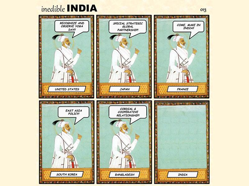 Besides shedding light on the social context, founder of Inedible India - Rajesh Rajamani believes that the comic strips are making ancient Indian art more accessible to the masses. (Photo: Inedible India)