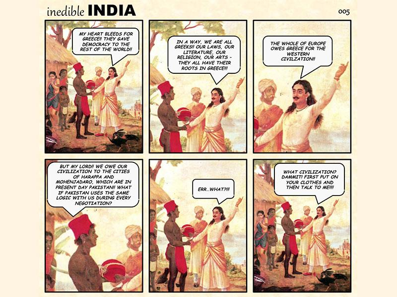 From murals of Mughal kings and queens to Raja Ravi Varma's celestial nymphs, web comics Inedible India and Royal Existentials are fusing vintage art with modern-day issues.