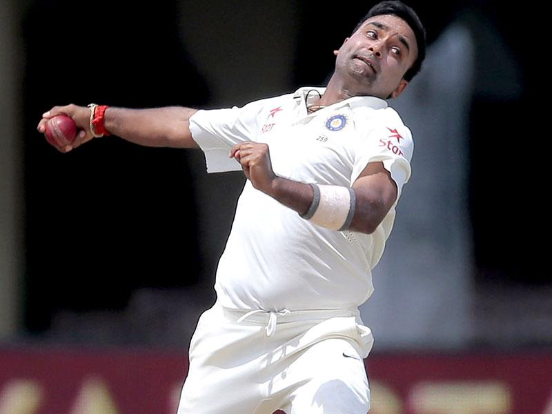 Amit Mishra delivers a ball during the third day's play of the second test cricket match against Sri Lanka in Colombo. AP/Eranga Jayawardena