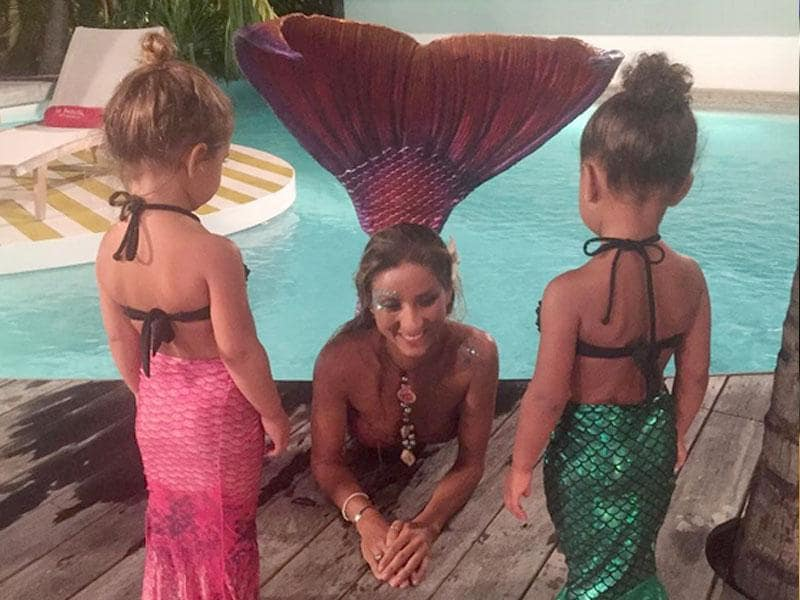 Real? Surreal? The Kardashians know how to have fun. Kim shared the photo on Instagram saying: