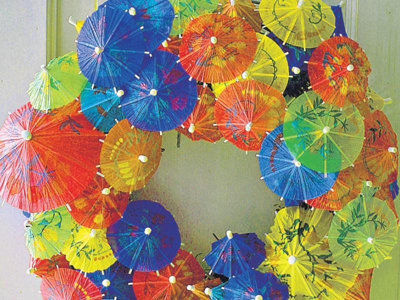 These miniature umbrellas, which are easily available in the market, can be clubbed together to make an interesting decor item. Glue or stitch these colourful pieces together in a round or square shape and put it up on your wall or door. (Photo: ISTOCK)