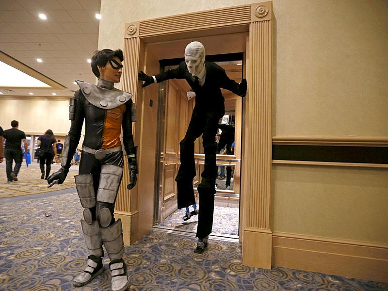 #Shudders. Did we just spot a Slenderman walk out of the elevator? (Reuters/ Jim Young)