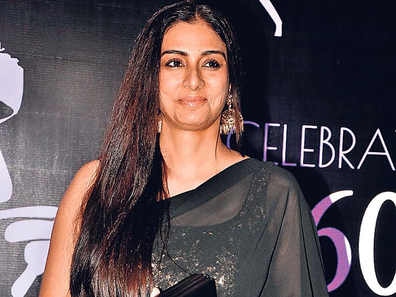 Tabu attends the birthday party of actor-turned-politician Chiranjeevi. (Photo: Viral Bhayani)