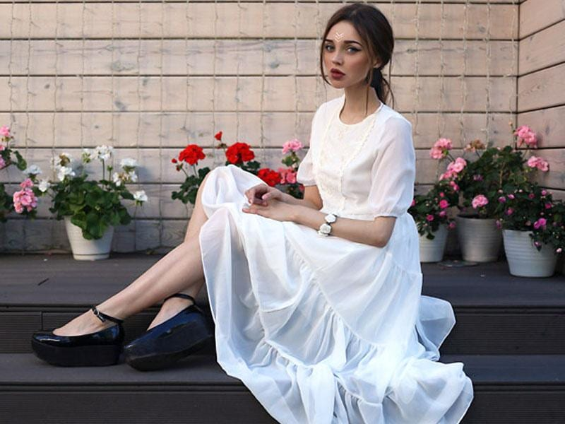 Get your light-hued dress game in check with this very chic white dress option. Trust us, this is a perfect white dress for this time of the year. (AFP Photos)