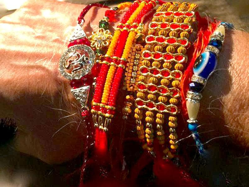 Marking Raksha Bandhan, Bollywood superstar Amitabh Bachchan shared a picture of his wrist with half-a-dozen rakhis adorning it. (Photo: Facebook/AmitabhBachchan)