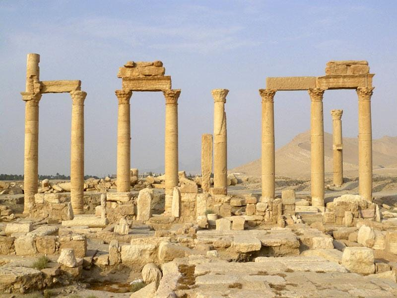 A view shows the colonnade in the historical city of Palmyra.  (Reuters)