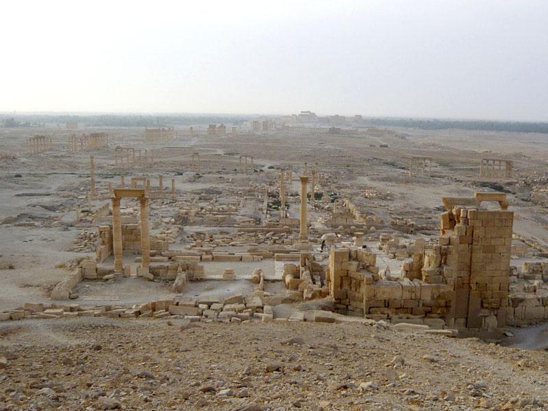 Another view shows the historical city of Palmyra. (Reuters)