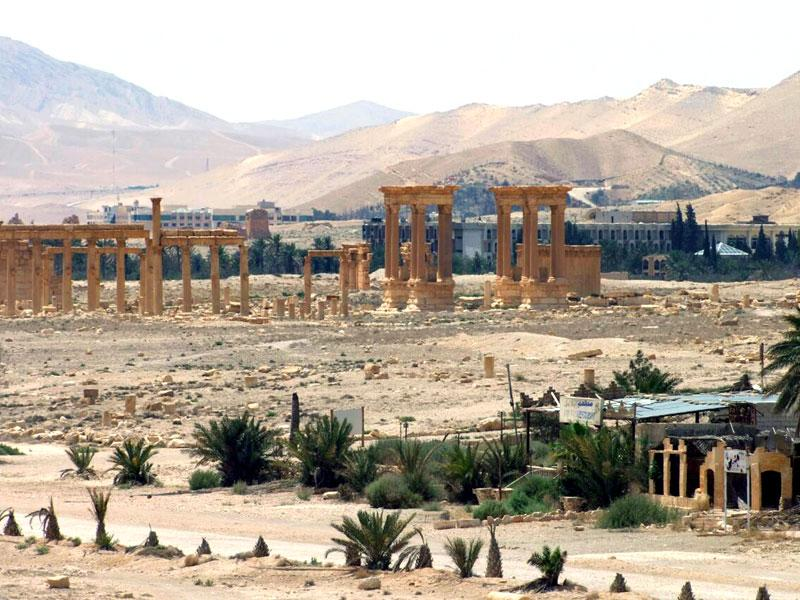 This file photo released by the Syrian official news agency SANA shows the general view of the ancient Roman city of Palmyra, northeast of Damascus, Syria. (SANA via AP, File)